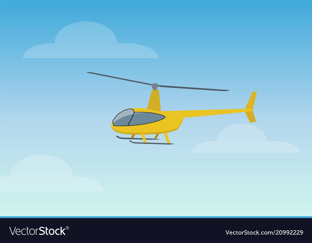 Pretty yellow helicopter color