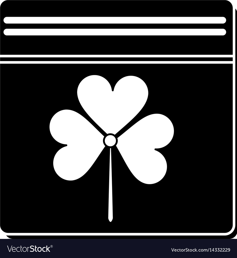St patricks day calendar clover pictogram