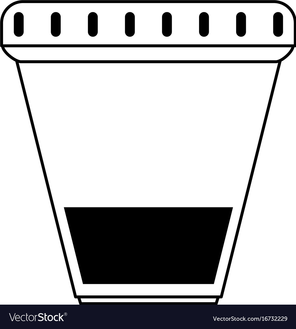 urine sample cup healthcare related icon image vector image