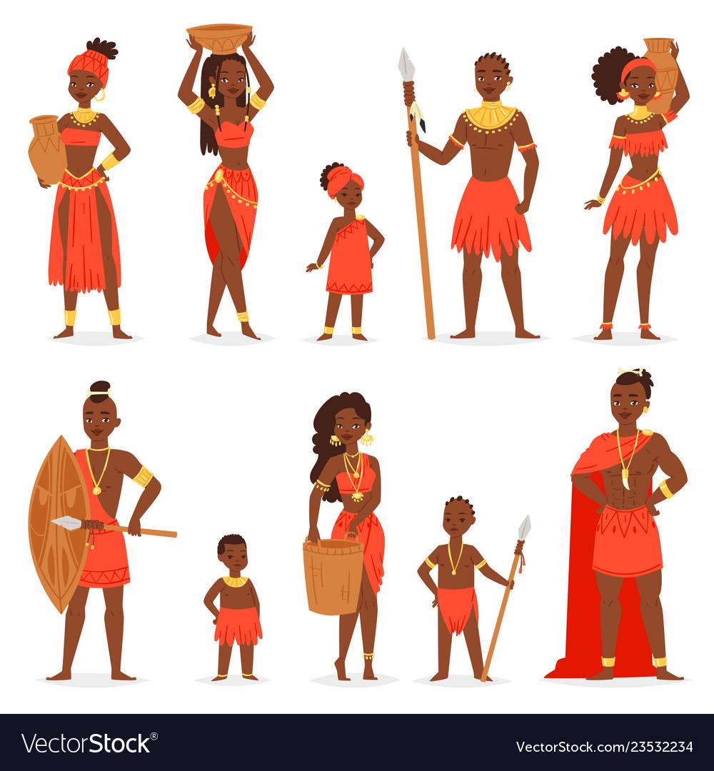 African people black man beautiful woman