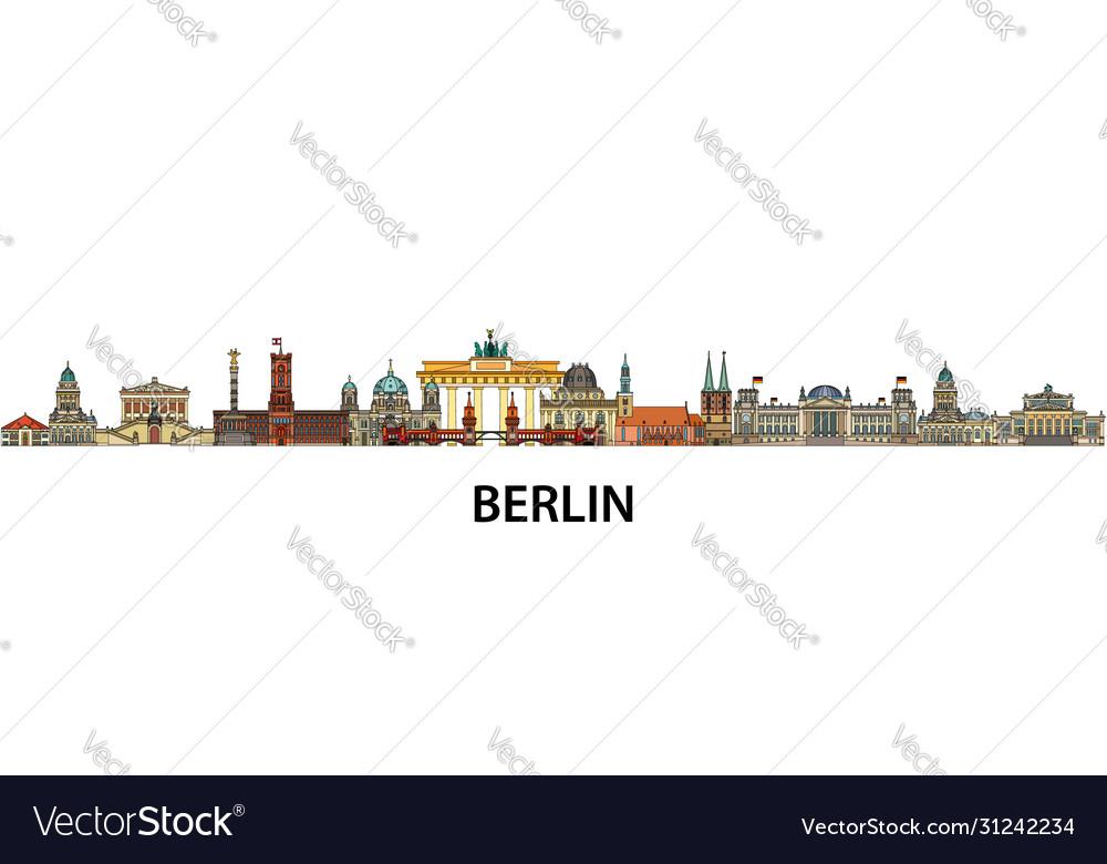 Berlin colorful line art 9