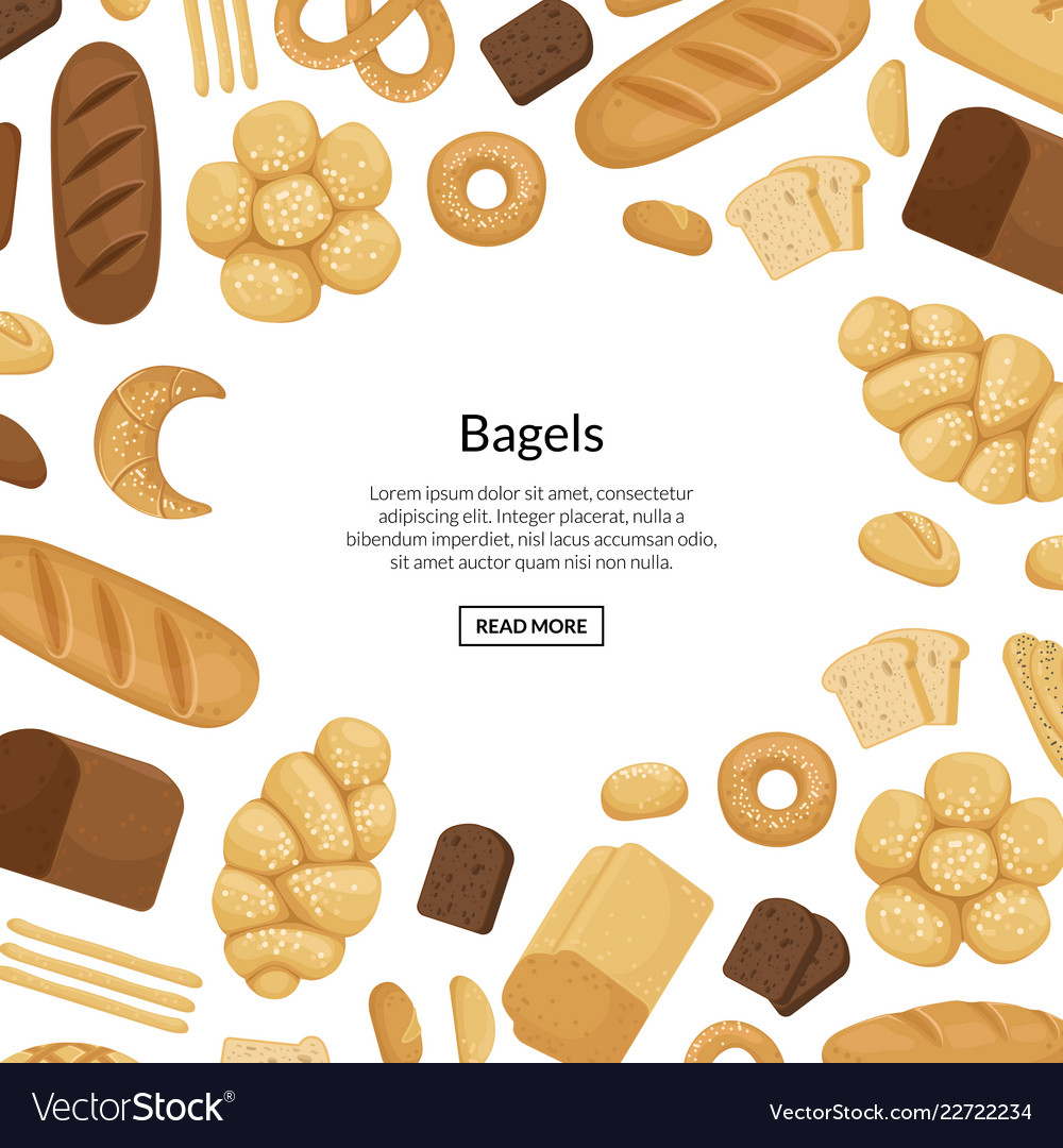 Cartoon bakery elements background with