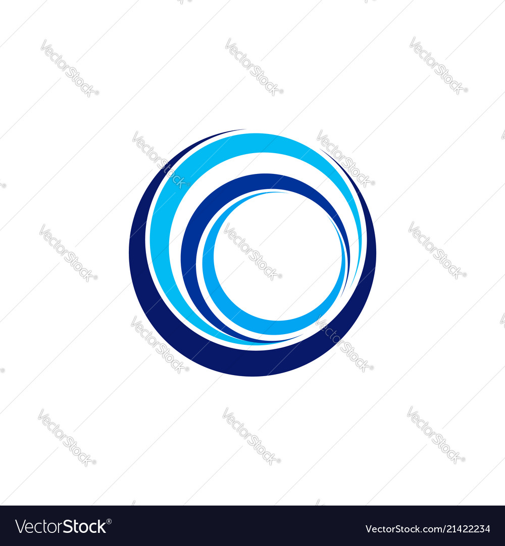 Circle wave logo abstract elements sphere wind