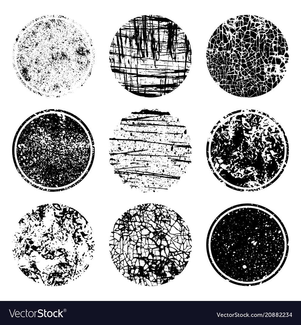 Grunge post stamps collection circles banners