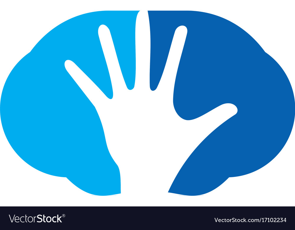 Hand abstract stop logo vector image