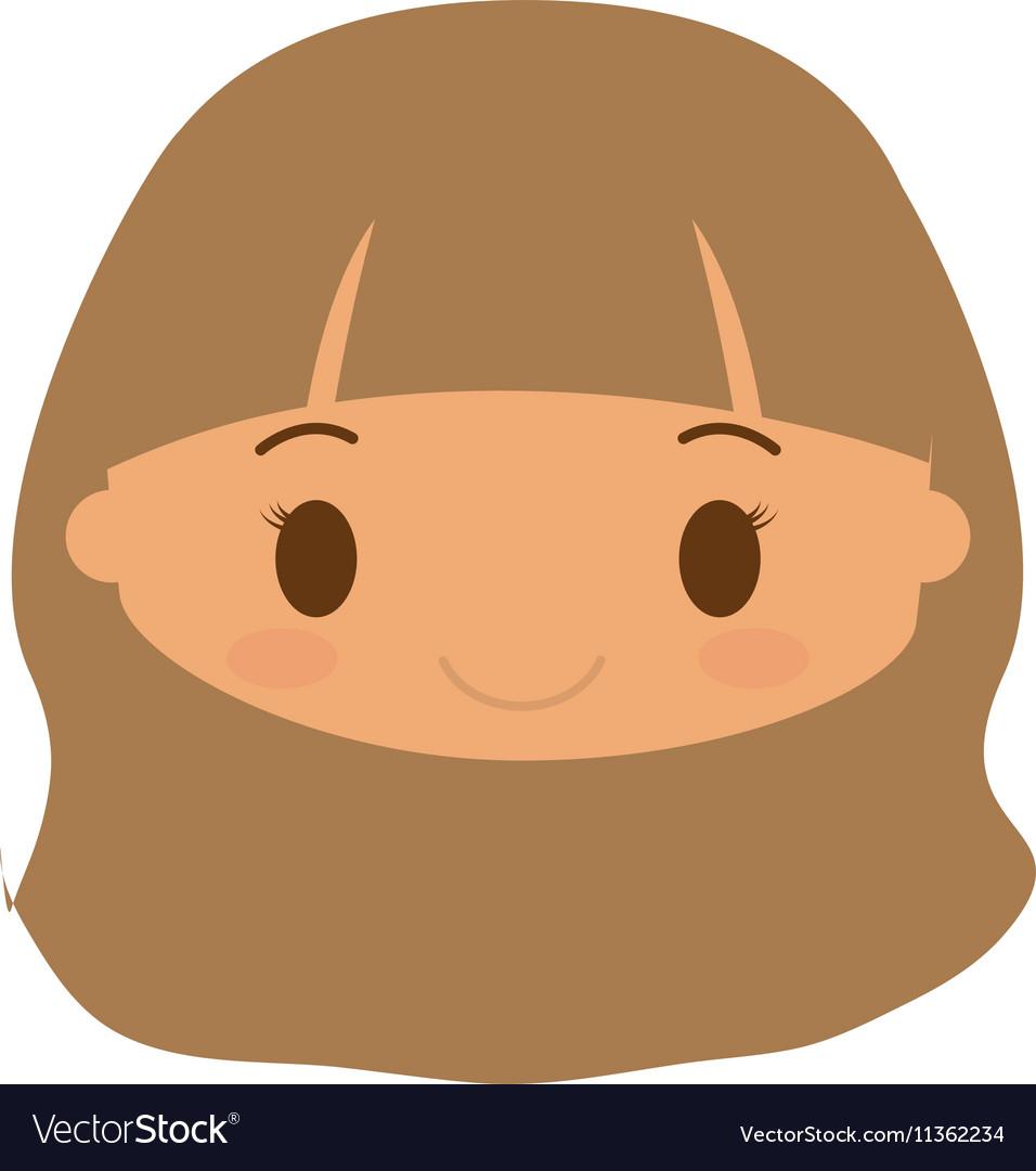 Happy girl character avatar
