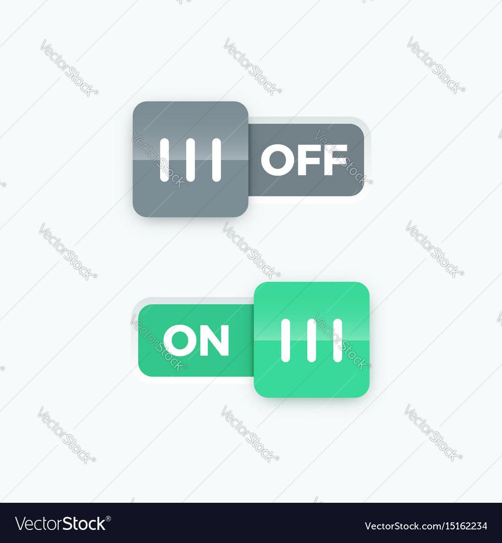 On off switch slider