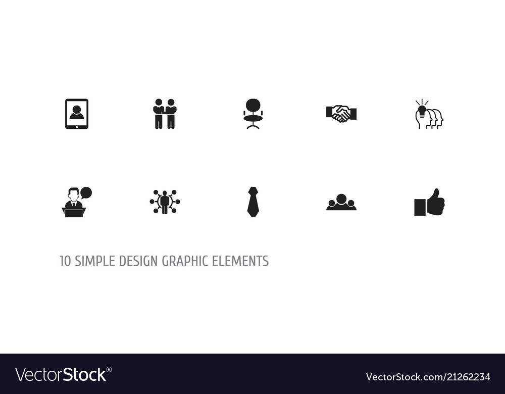 Set of 10 editable job icons includes symbols