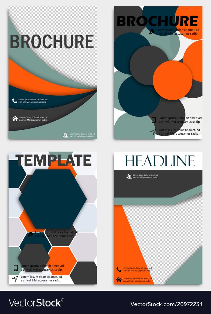 Set Of Flyer Templates Brochures Design Editable Vector Image