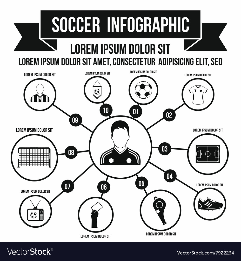 Soccer infographic simple style