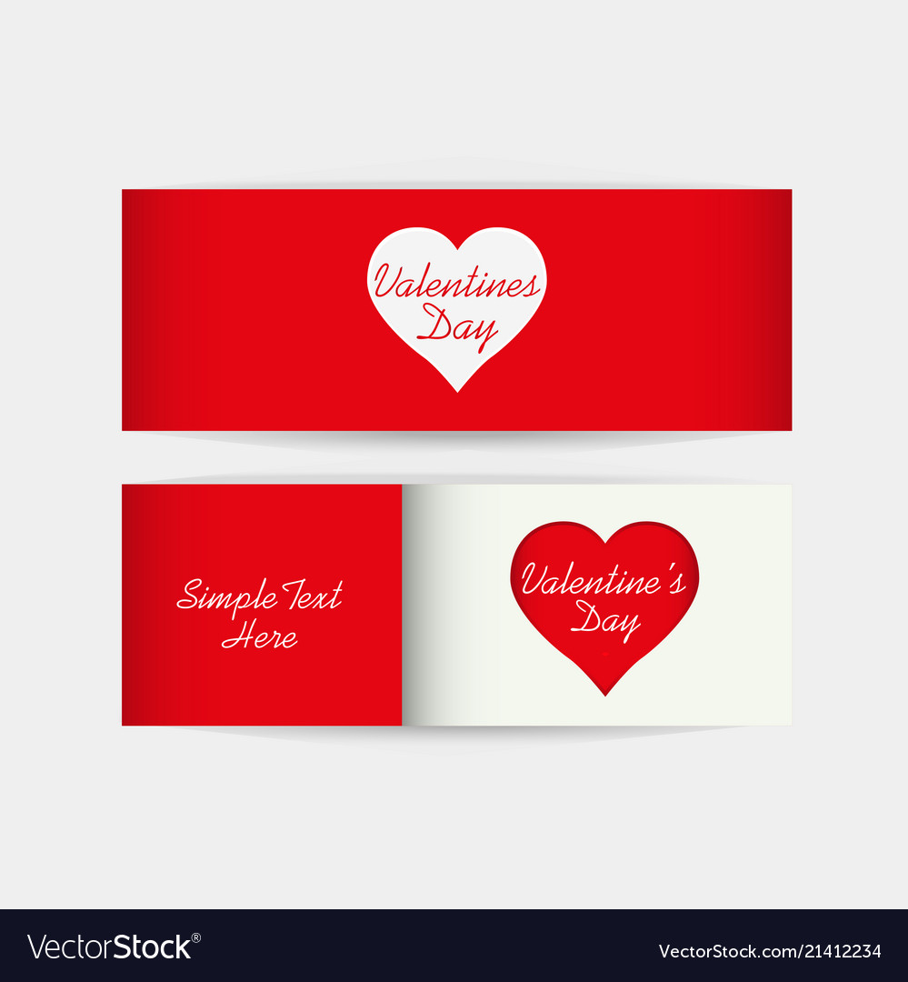 Valentines Day Gift Cards Royalty Free Vector Image
