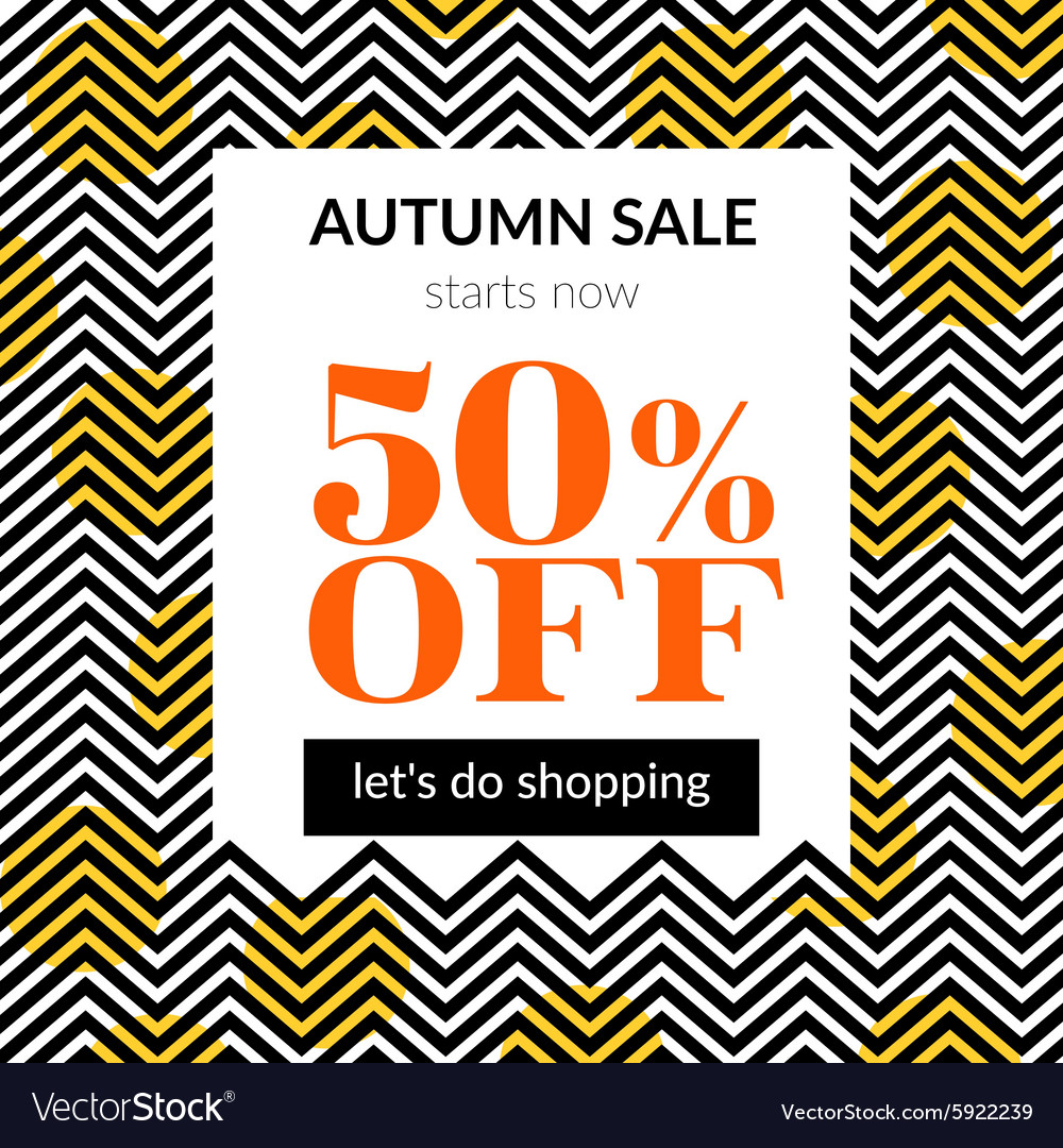 Autumn sale background with pattern