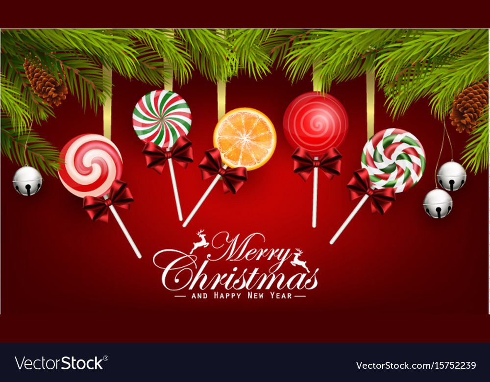 Christmas and happy new year with candy