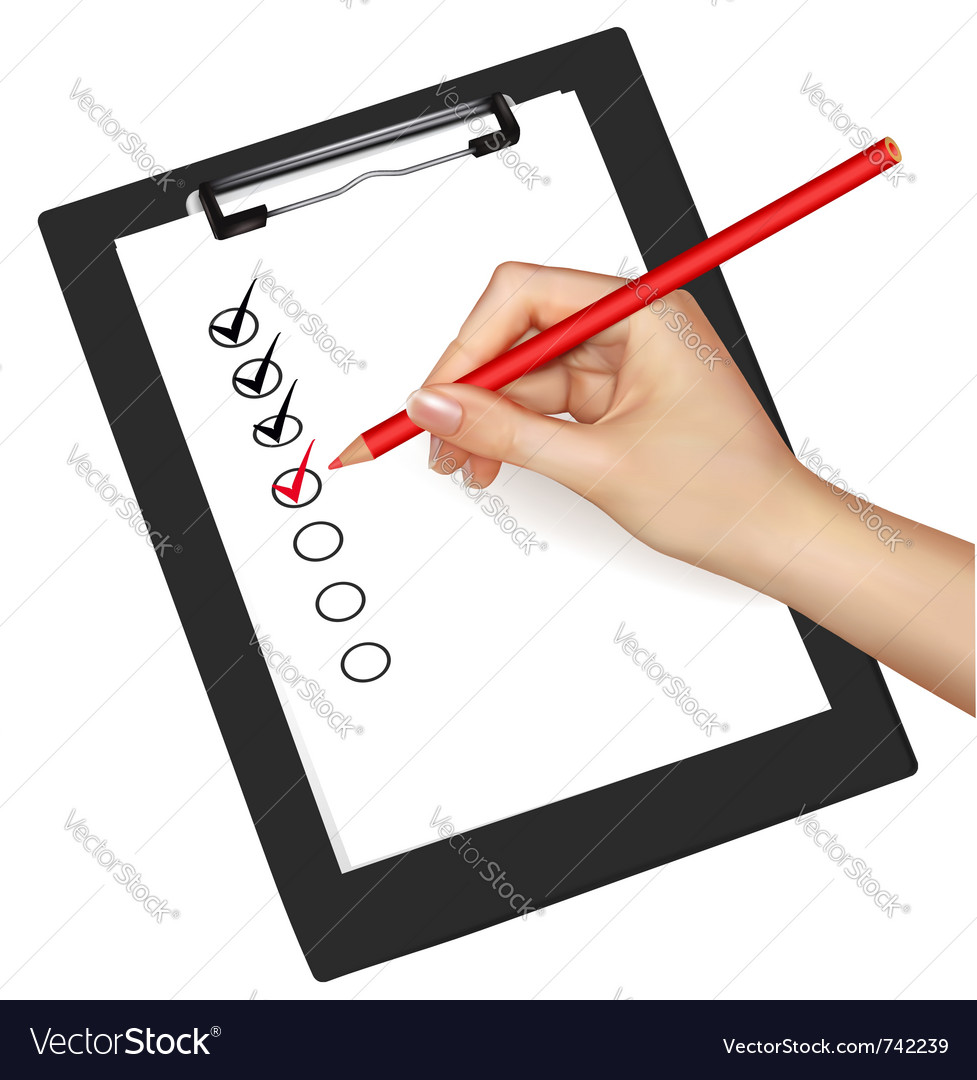 Clipboard with check-boxes vector image