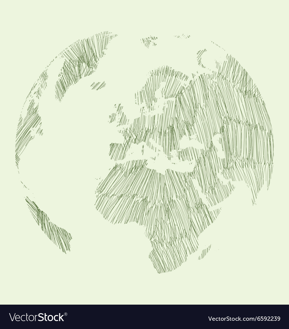 Earth Draw Royalty Free Vector Image Vectorstock