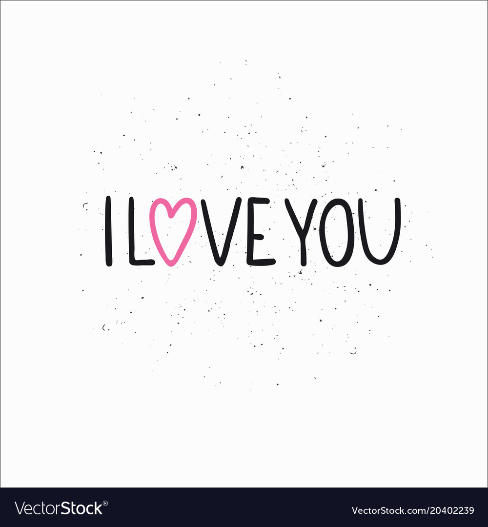 Love lettering quote vector image