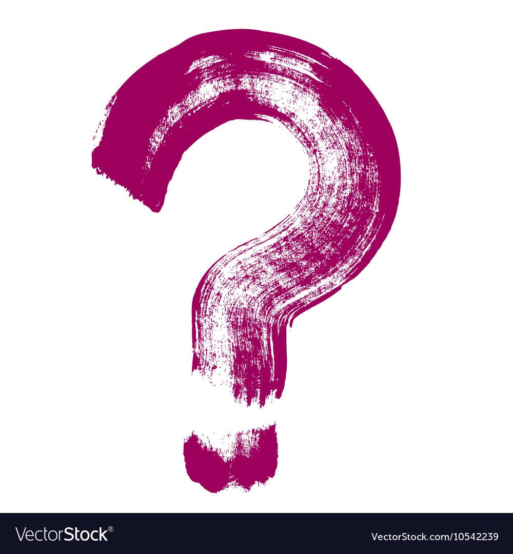 Original hand-painted question symbol vector image