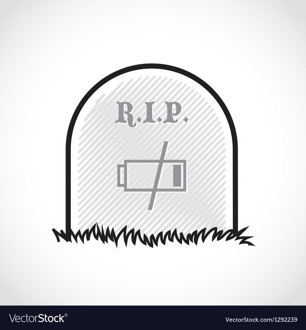 RIP coffin set Royalty Free Vector Image - VectorStock