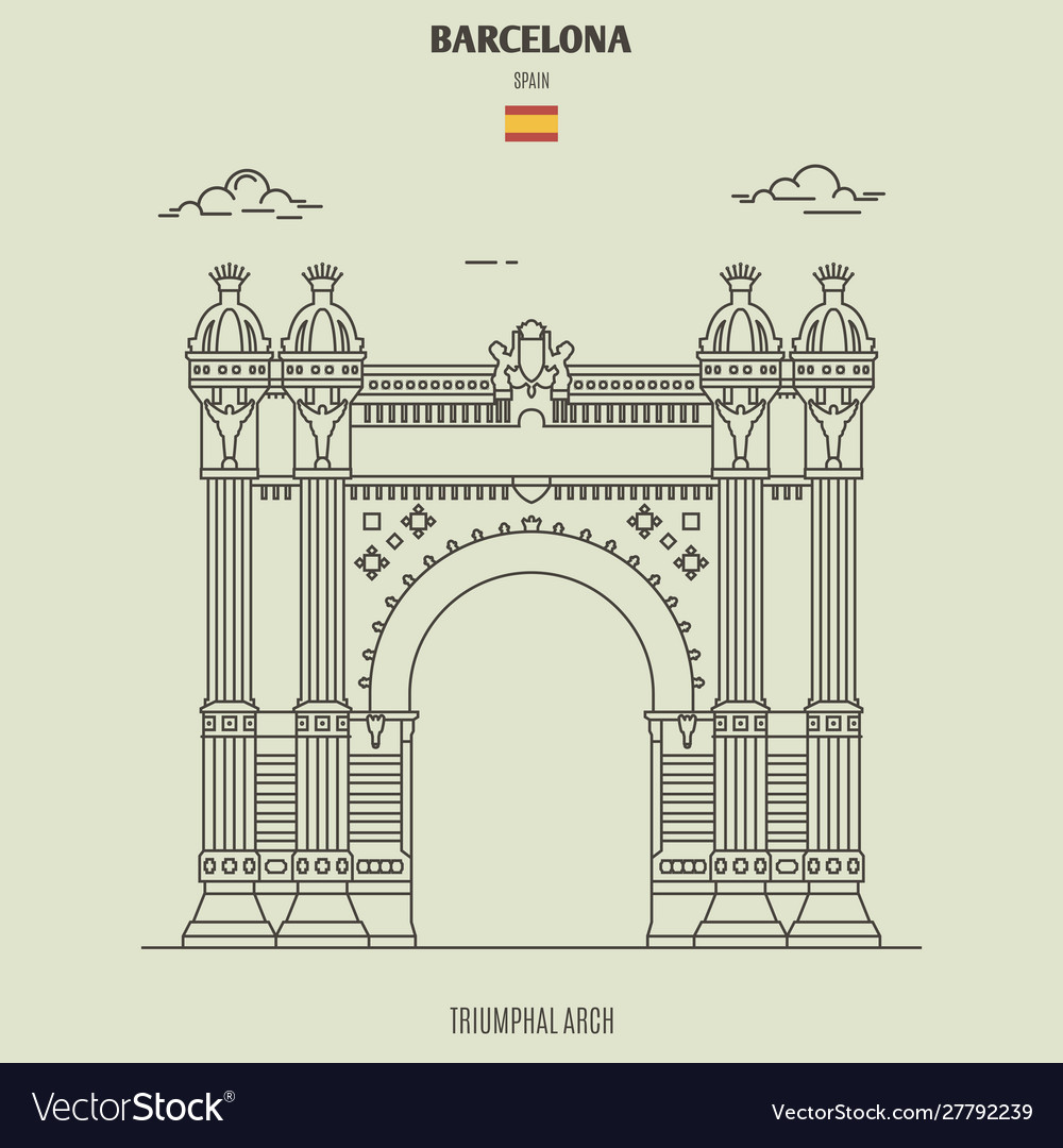 Triumphal arch in barcelona spain