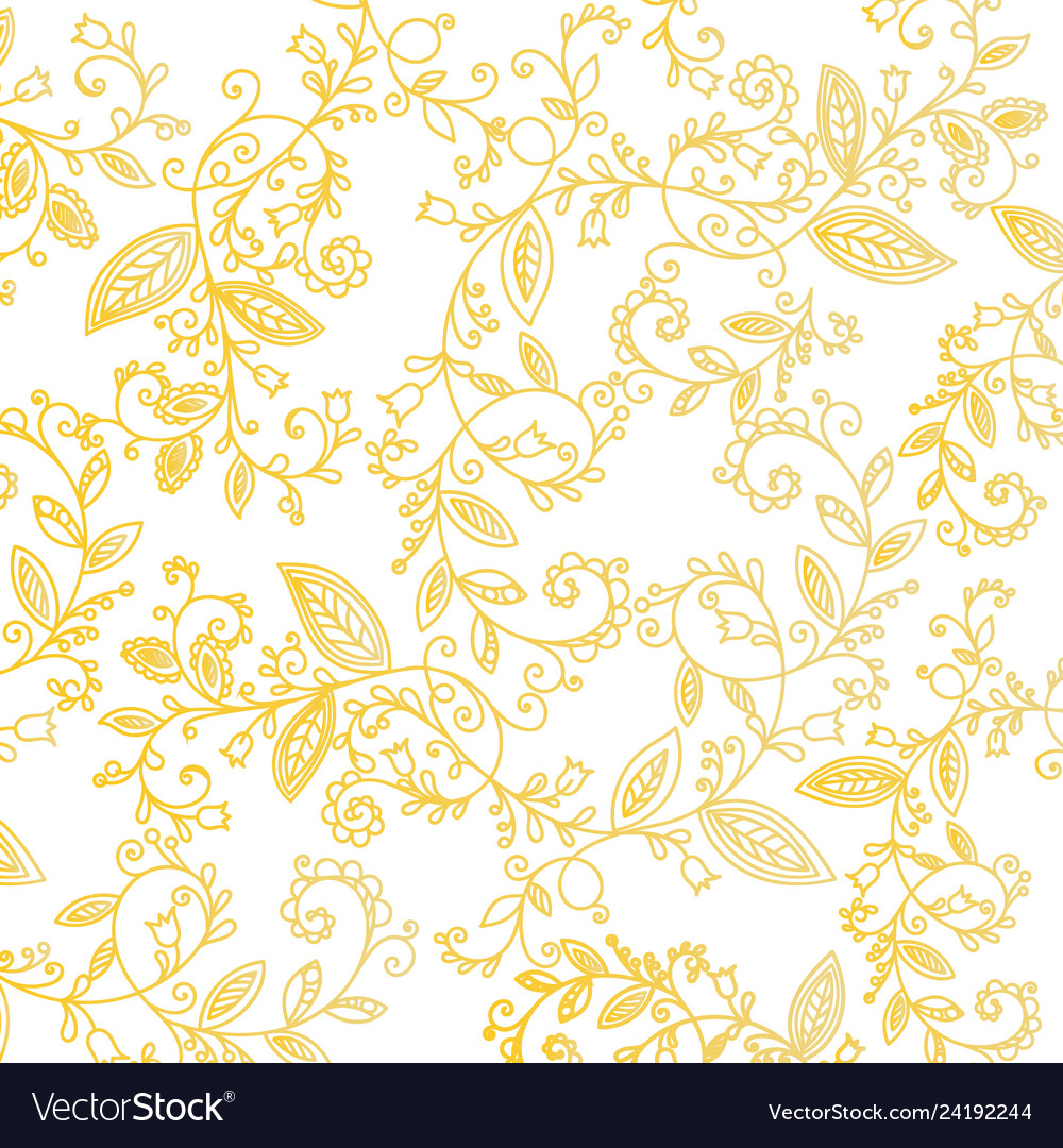 Abstract hand drawn gold pattern