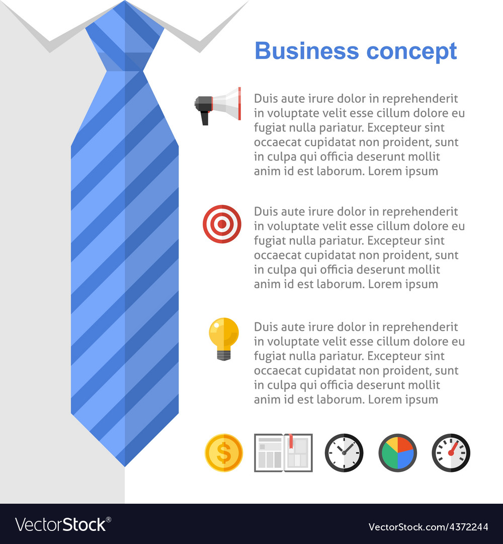 business strategy presentation slide royalty free vector