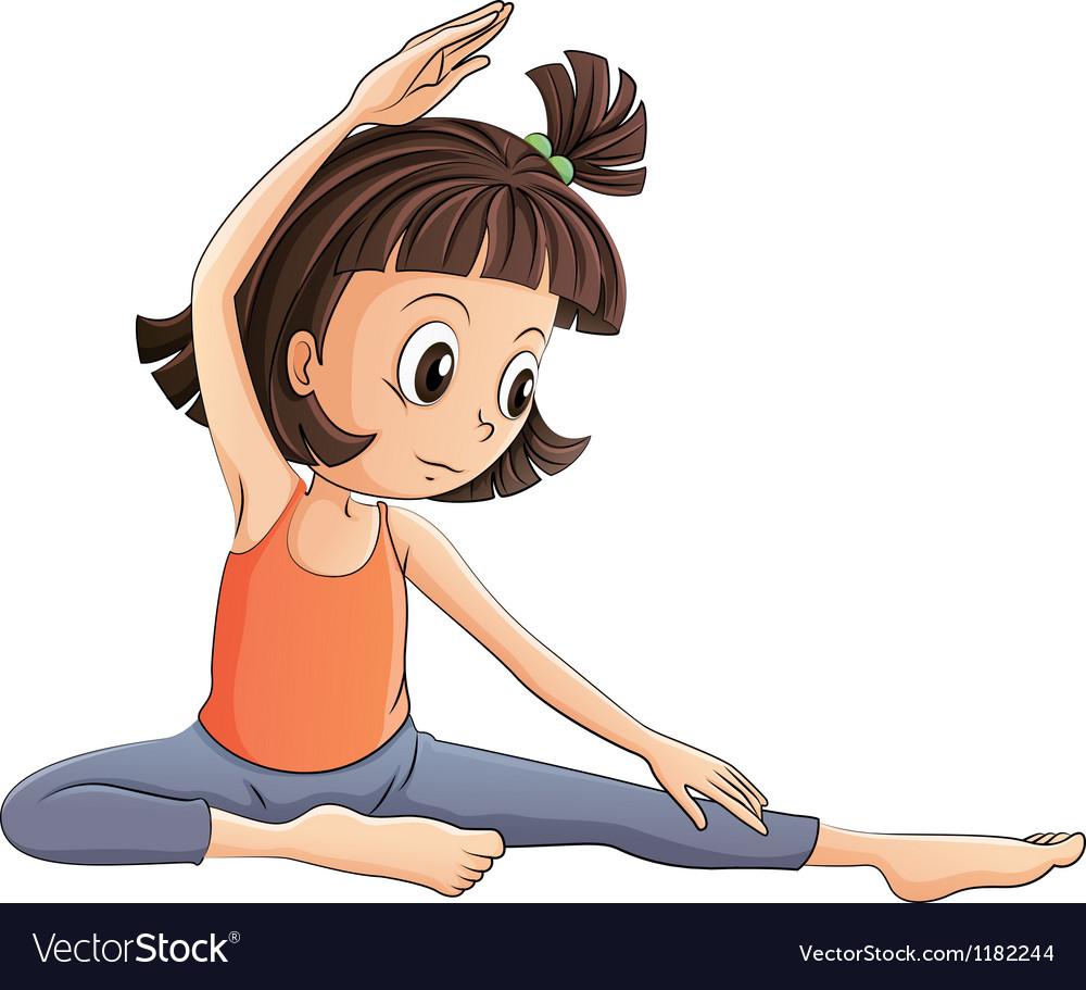 Cartoon Yoga Girl