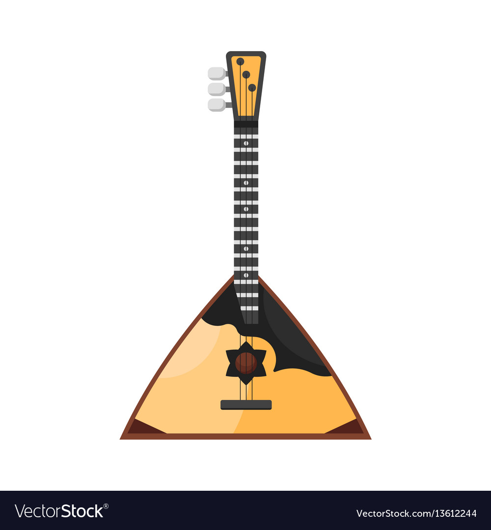Flat style russian traditional musical instrument vector image