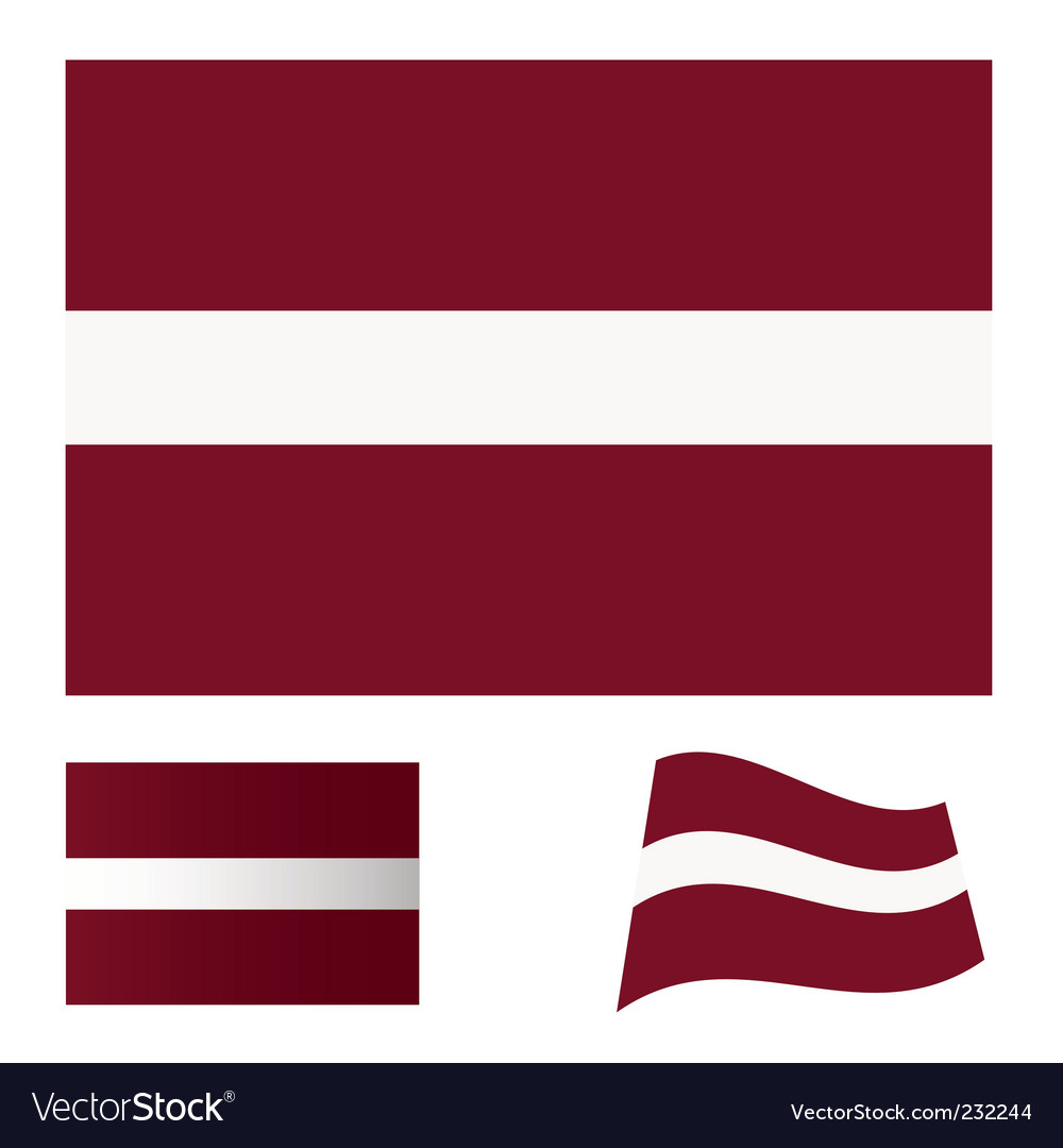 Latvia flag set vector image