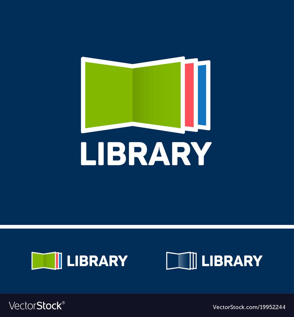 Logo digital library electronic library logo