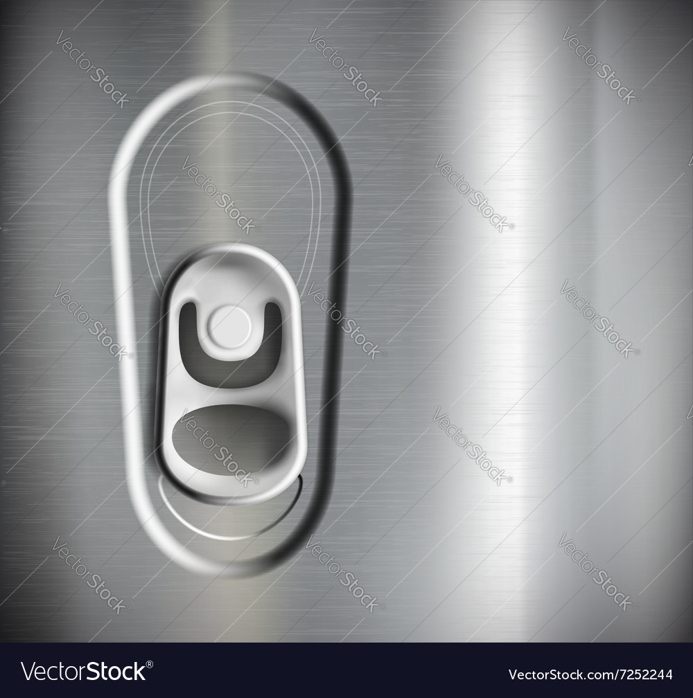 Metal can Stock vector image