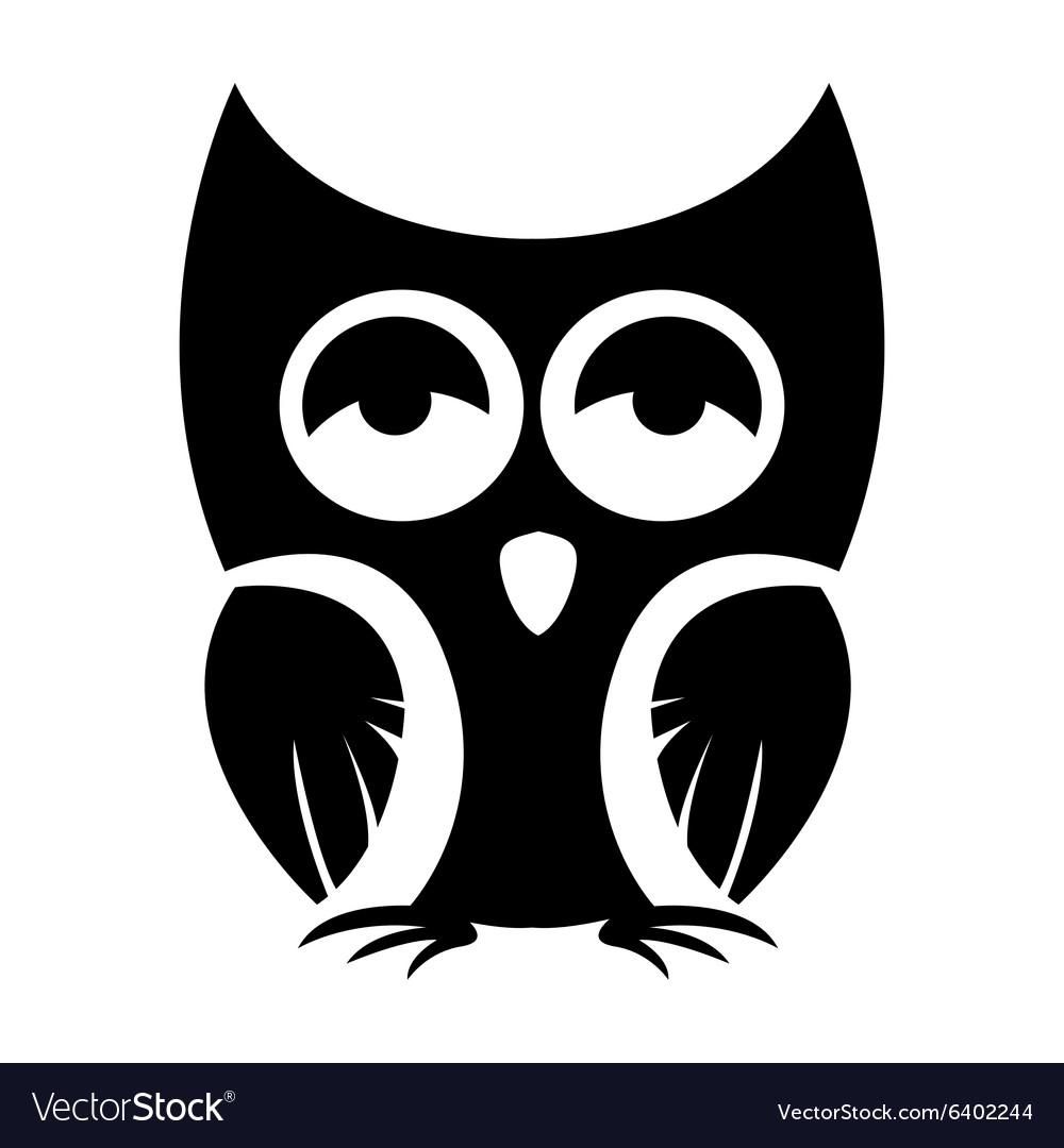 Owl black icon