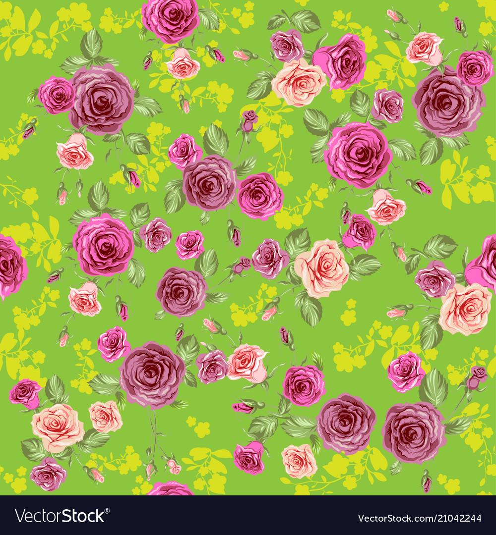 Roses spring pattern
