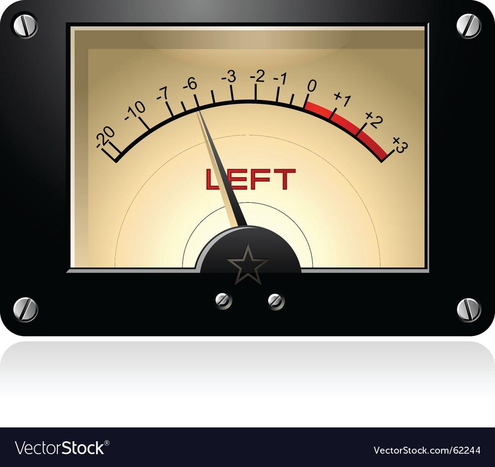 Signal meter vector image