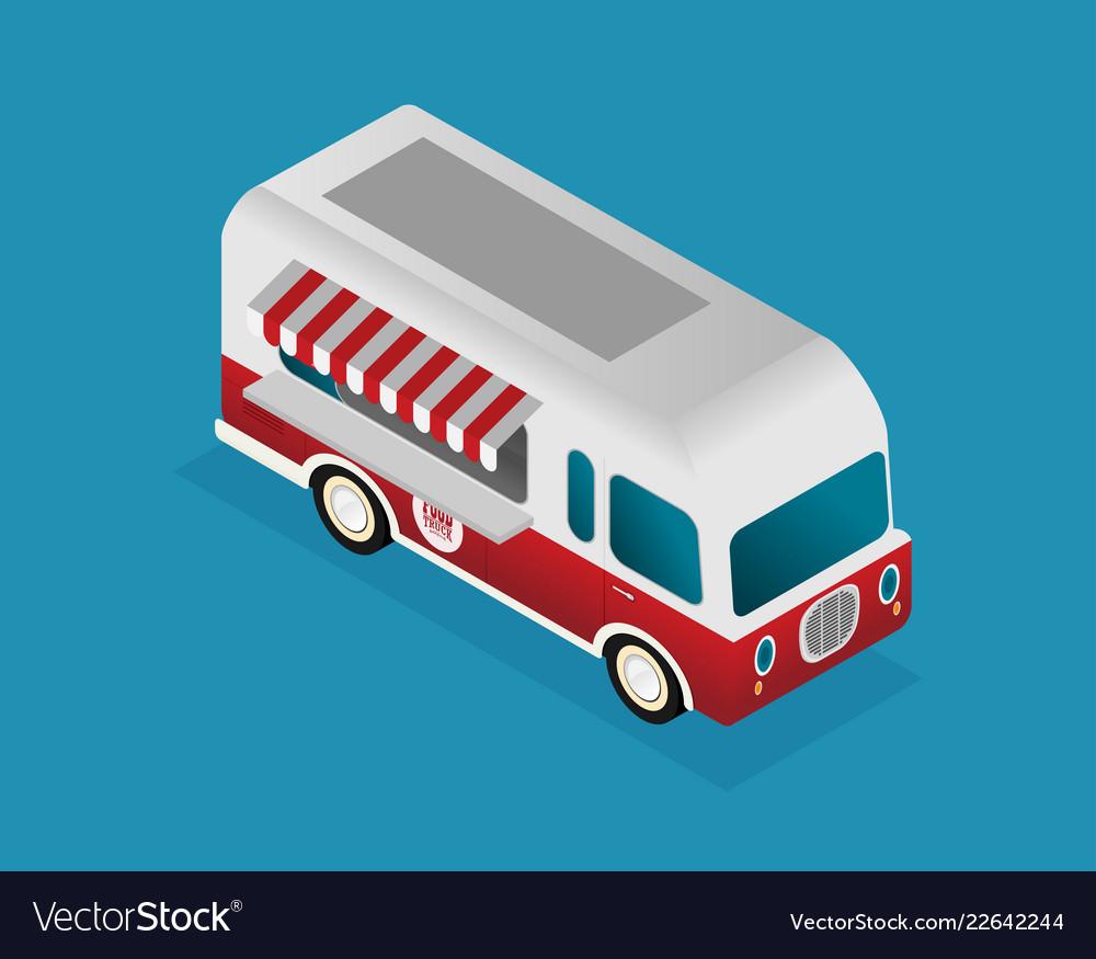 Street food truck food caravan burger van