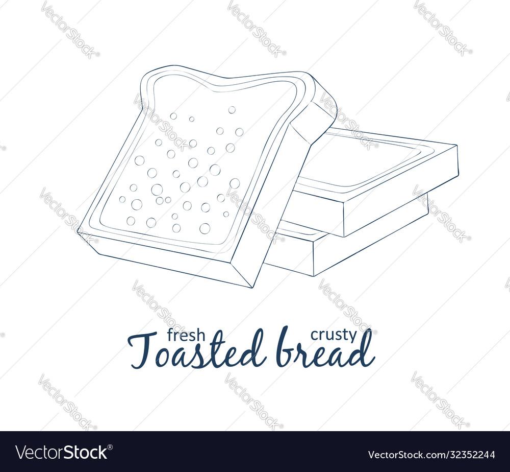 Toasted bread icon cartoon food
