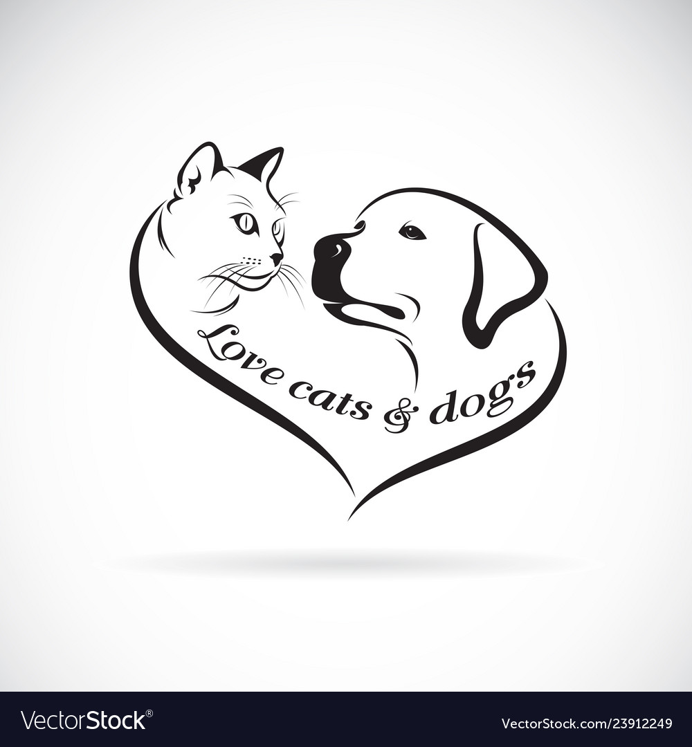 A dog headlabrador retriever and cat head design