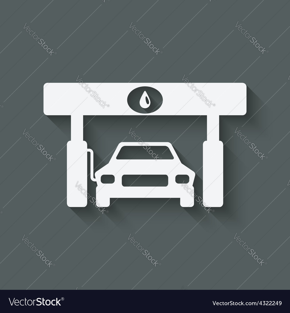 Car at gas station vector image