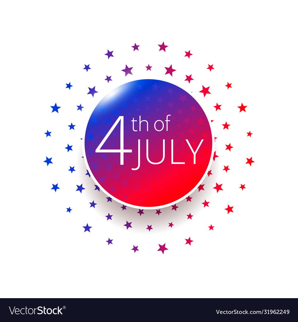 Fourth july independence day label design