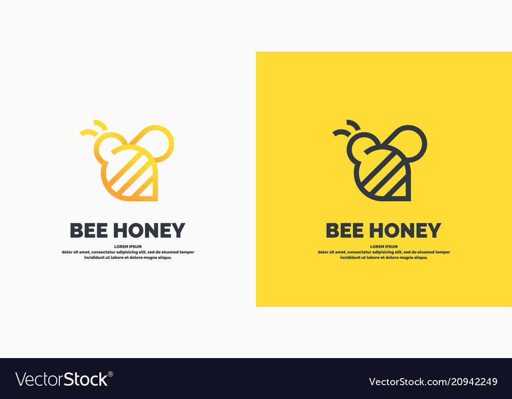 Modern linear logos for beekeepers the stickers