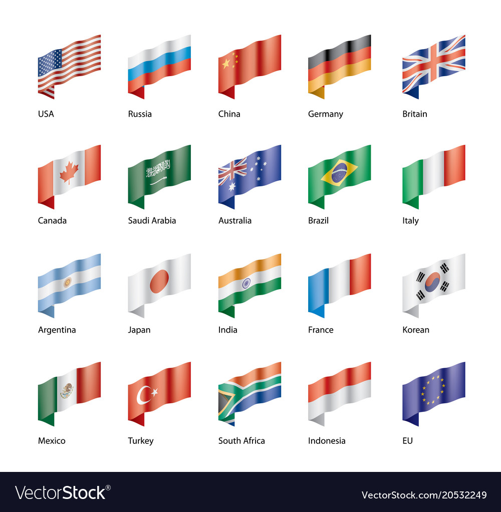 Set of flags of the g20
