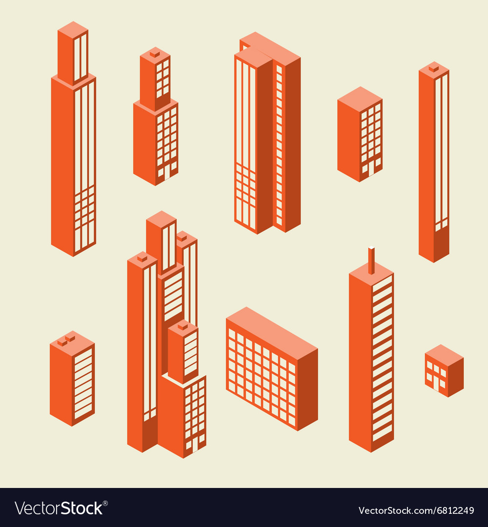 Set of tall buildings