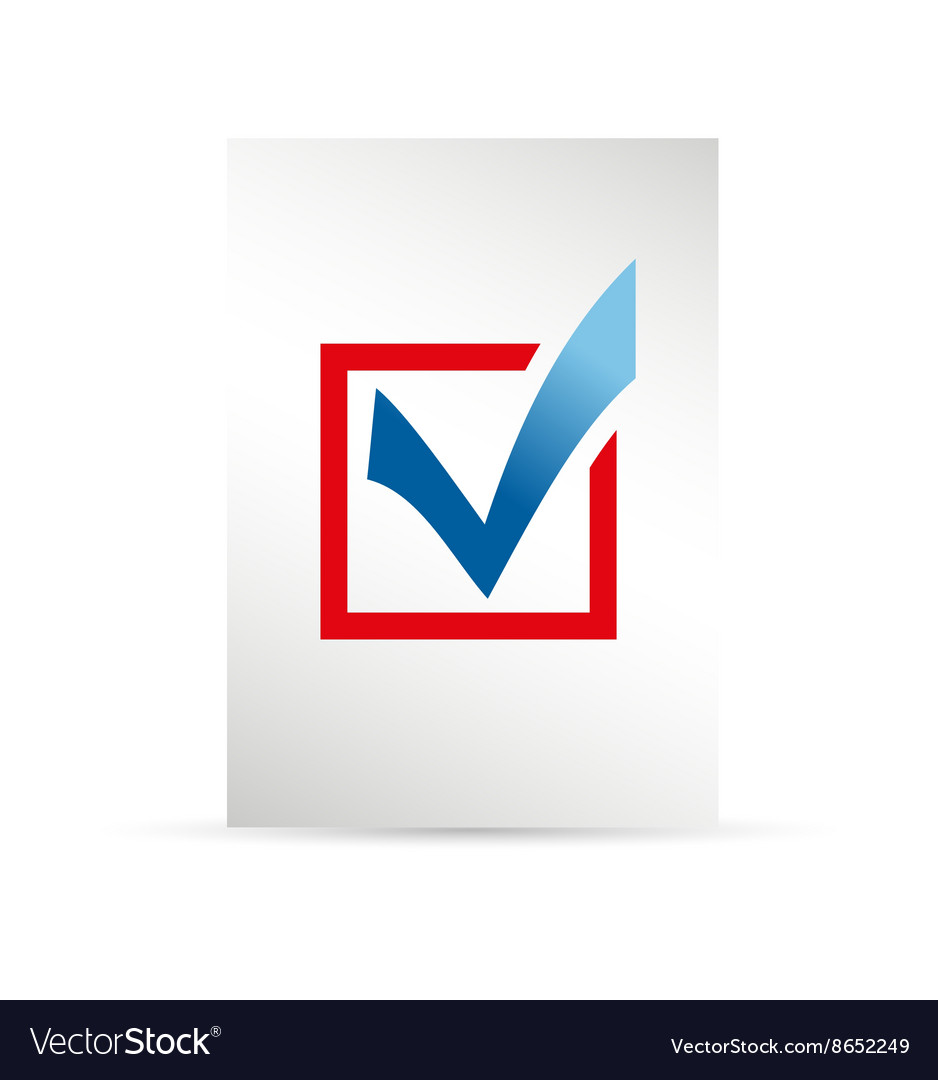 Template ballot paper Elections icons