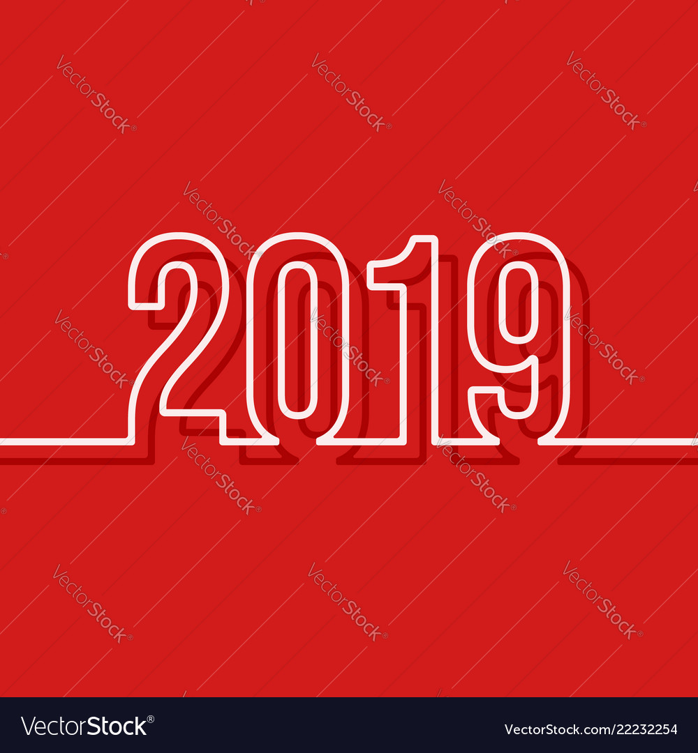 2019 new year cover template minimal design