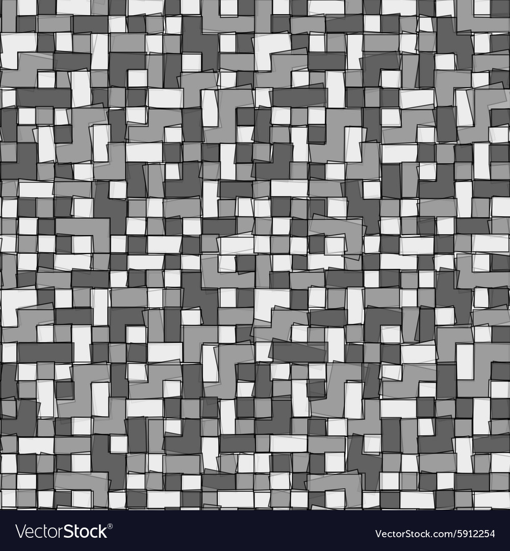 Abstract grayscale pixel background seamless