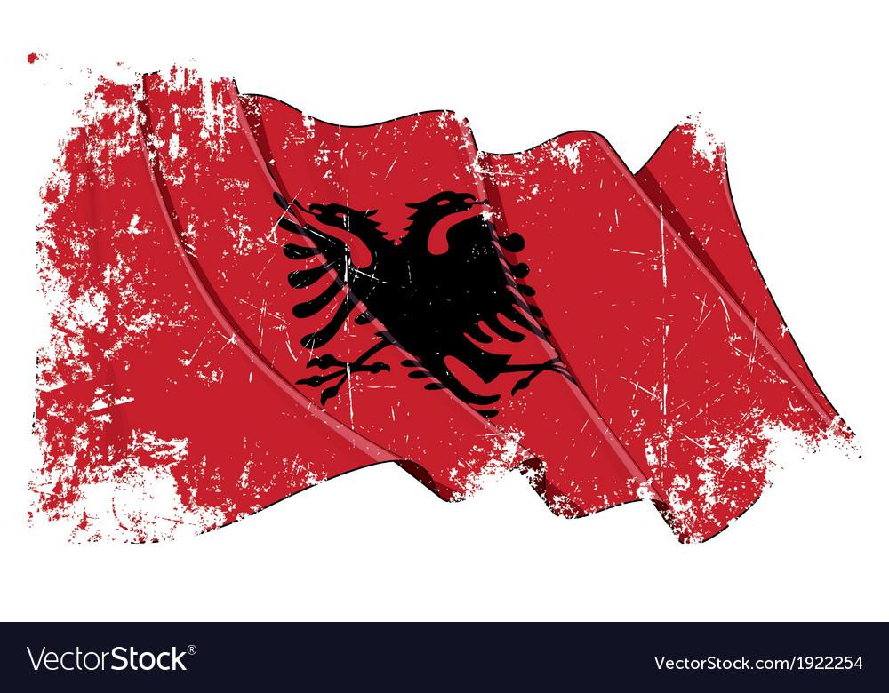 Albania flag grunge