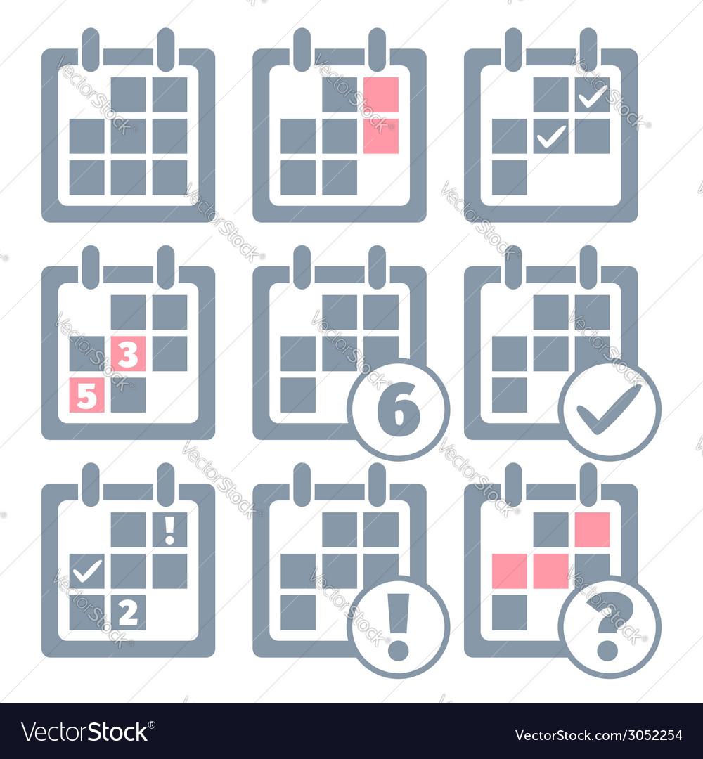 Calendar Templates Graphic Design : Calendar infographics set design templates vector image