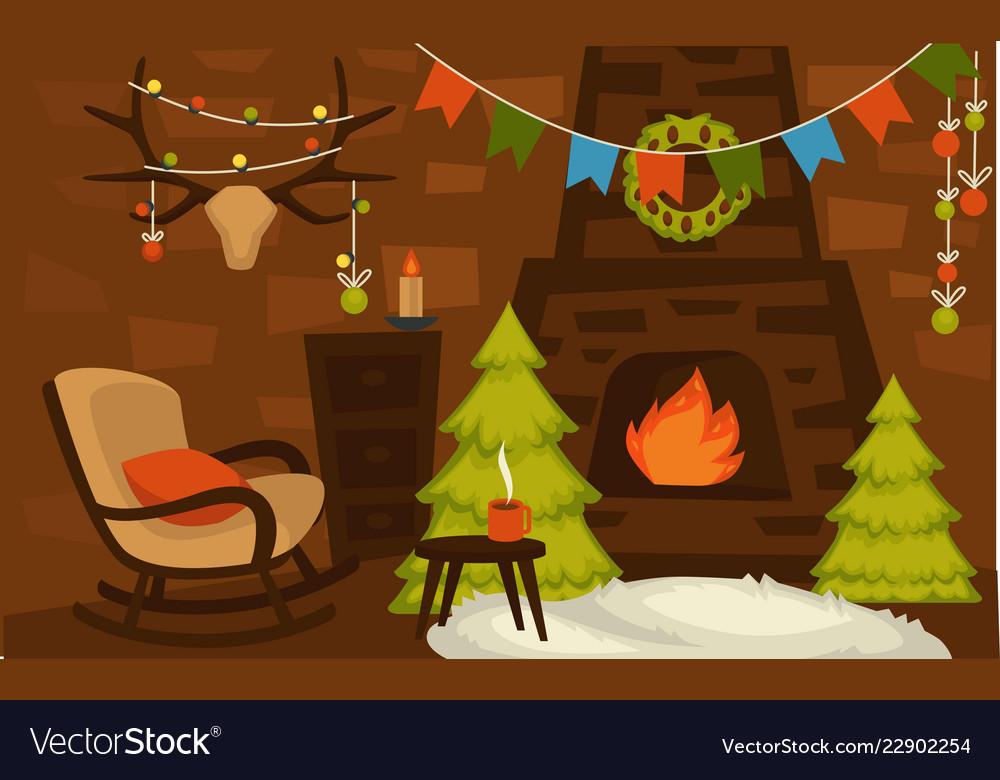 Christmas winter holidays furniture and interior