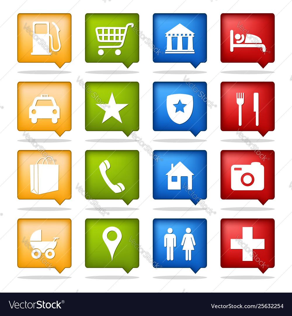 Color navigation icons