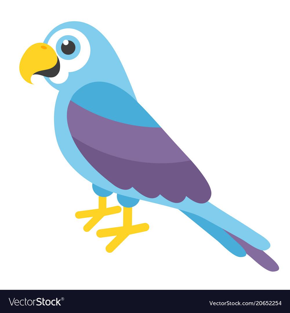 Cute blue parrot