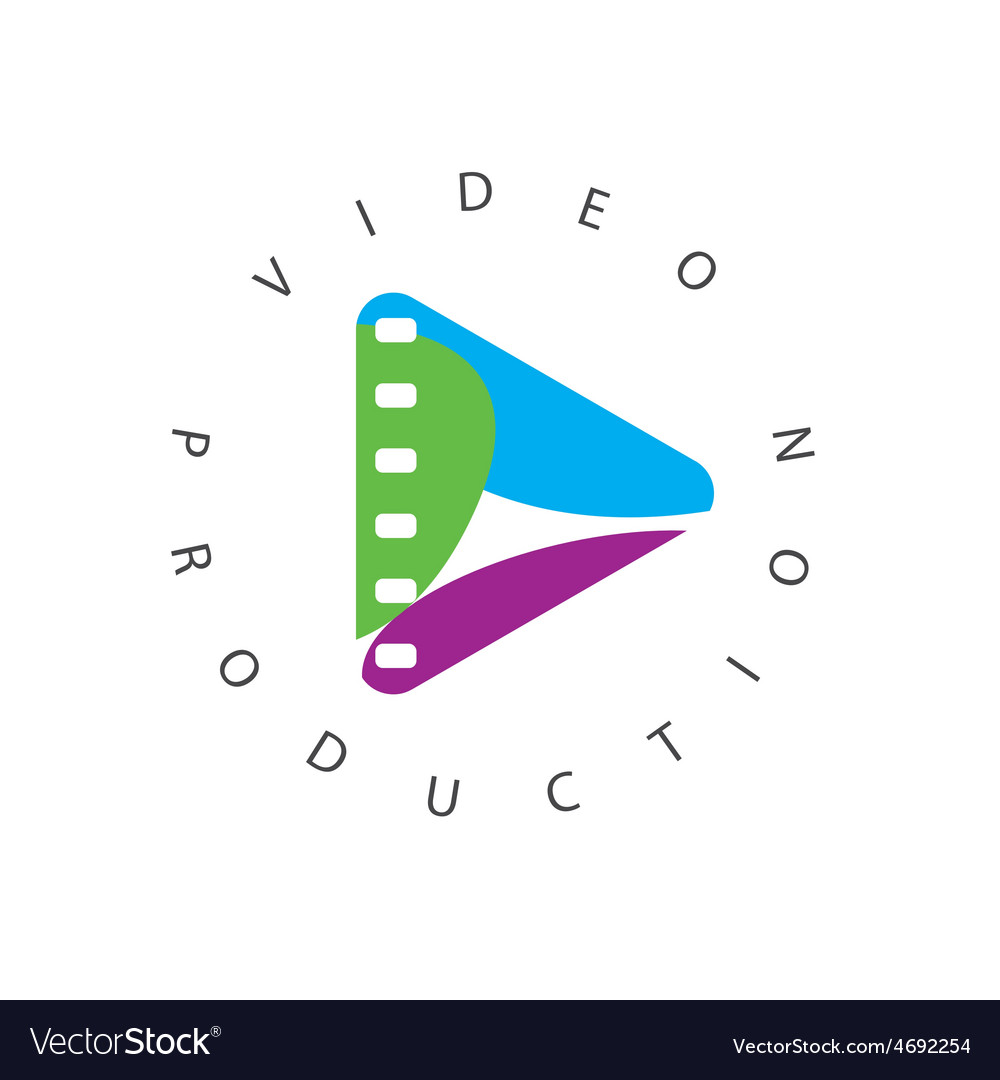 Logo abstract play button